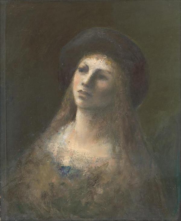 Ján Mudroch - Žena s čiernym klobúkom