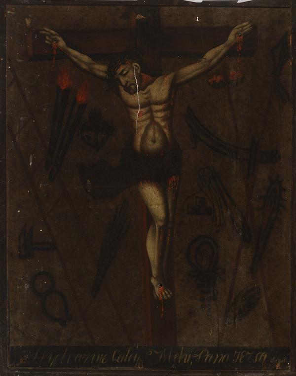 Slovenský maliar z 18. - 19. storočia, Neznámy maliar – Ukrižovaný s pašiovými atribútmi