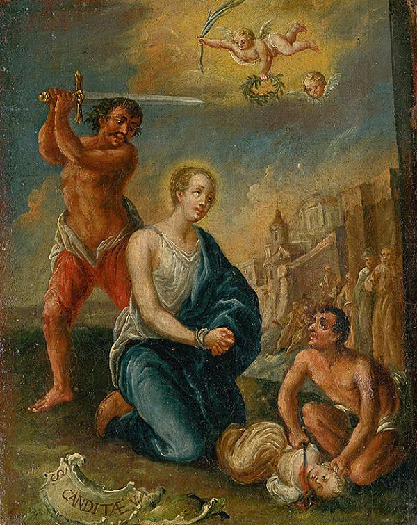 Stredoeurópsky maliar z 2. polovice 18. storočia - Smrť sv.Candidy