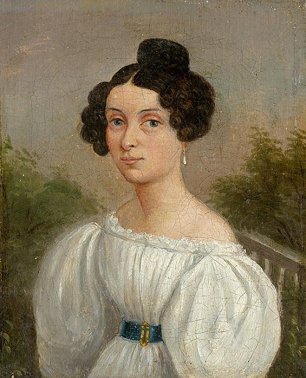 Východoslovenský maliar z 1. polovice 19. storočia, Spišský maliar, Jozef Czauczik – Podobizeň mladej ženy v bielom šate