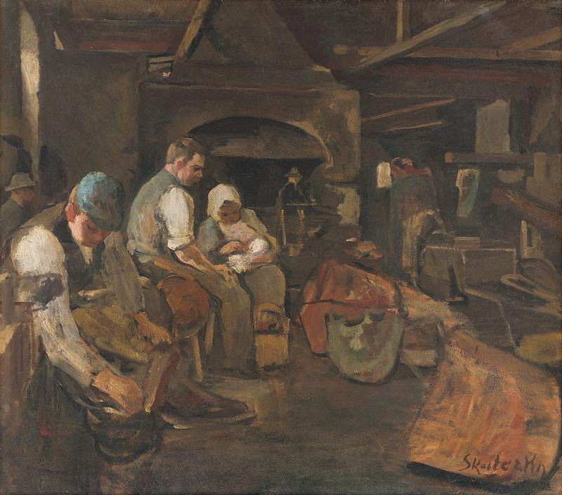 Dominik Skutecký – Obed kotliarov, okolo 1899, Slovenská národná galéria