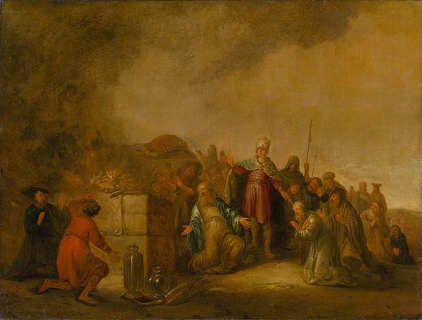 Jacob Willemsz. de Wet st., Salamon Koninck – Eliášova obeť bohovi Baalovi na hore Karmel