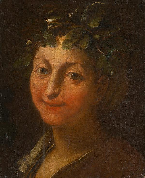 Taliansky maliar okolo polovice 17. storočia - Hlava Bacchantky