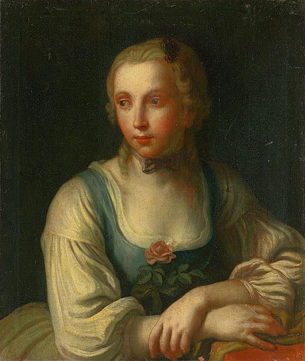 Nemecký maliar z 2. polovice 18. storočia – Podobizeň dievčaťa
