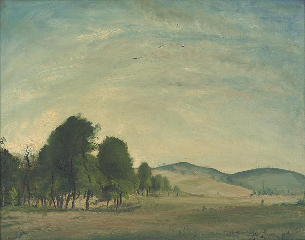 Július Rudnay - Krajina so skupinou stromov