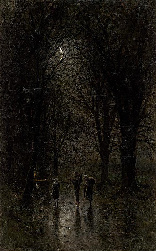 Ladislav Mednyánszky – Noční pútnici pri kríži