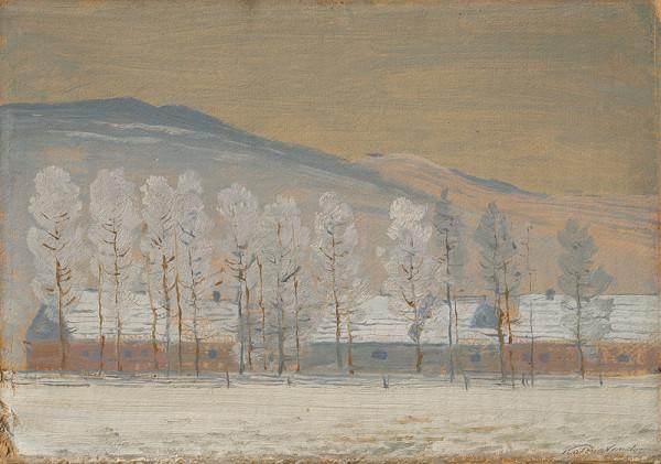 Ferdinand Katona – Zimná krajina pri Ždiari
