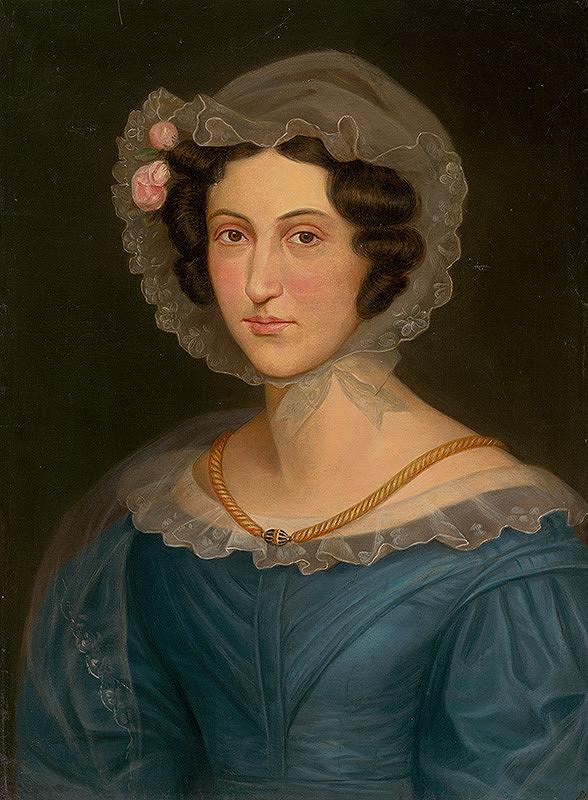Východoslovenský maliar z 2. polovice 19. storočia, Spišský maliar – Mladá levočská dáma v čepci