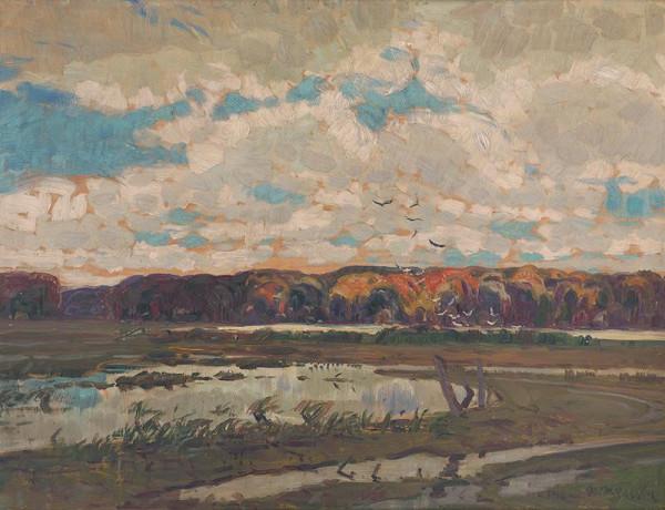 Martin Benka - Krajina s rybníkom