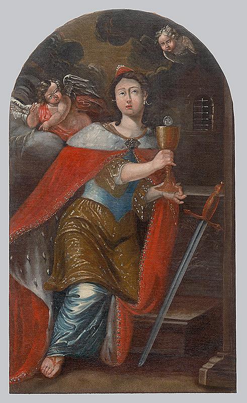 Slovenský maliar zo začiatku 18. storočia, Neznámy maliar – Svätá Barbora