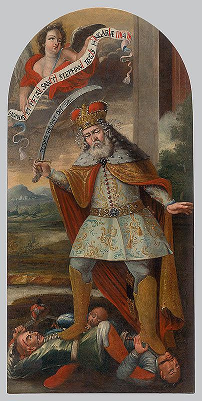 Slovenský maliar zo začiatku 18. storočia, Neznámy maliar - Svätý Štefan v boji s Turkami