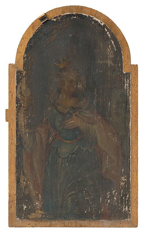 Slovenský maliar z polovice 18. storočia, Neznámy maliar - Svätá Barbora