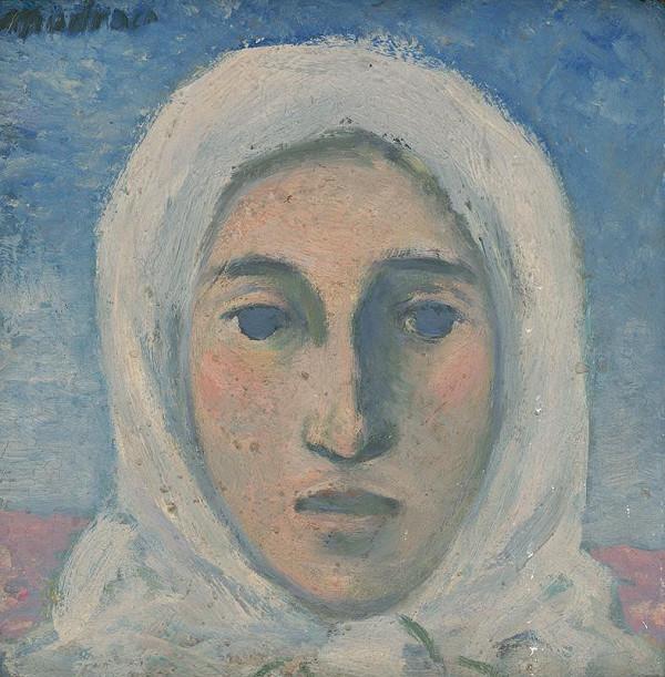 Ján Mudroch – Hlava ženy v bielej šatke