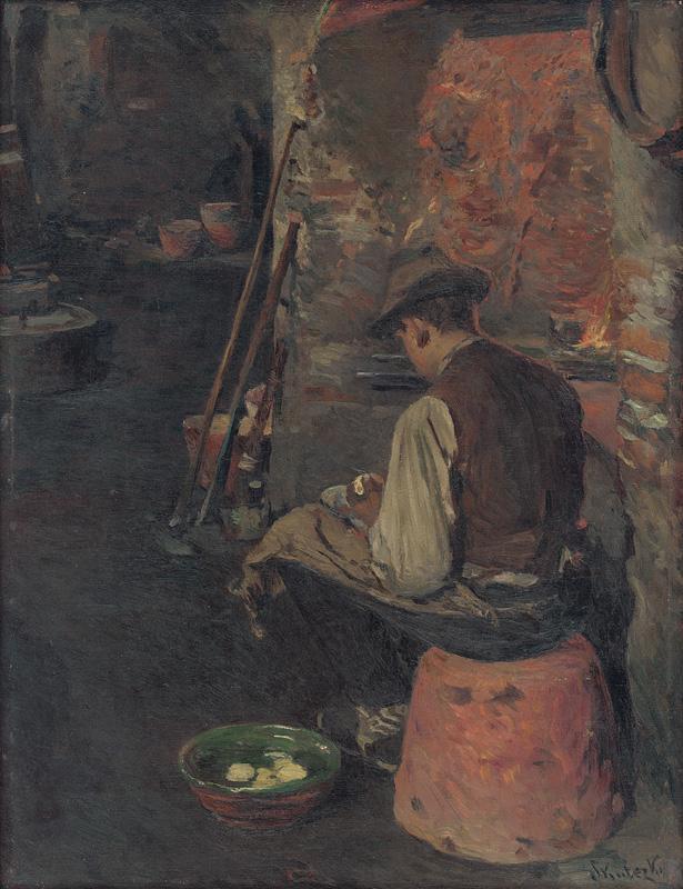 Dominik Skutecký – Pred obedom, 1918, Stredoslovenská galéria