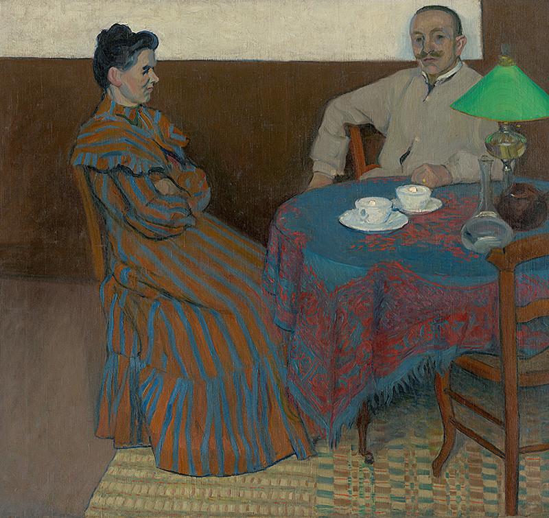 Július Andorko – Manželia pri stole, okolo 1900