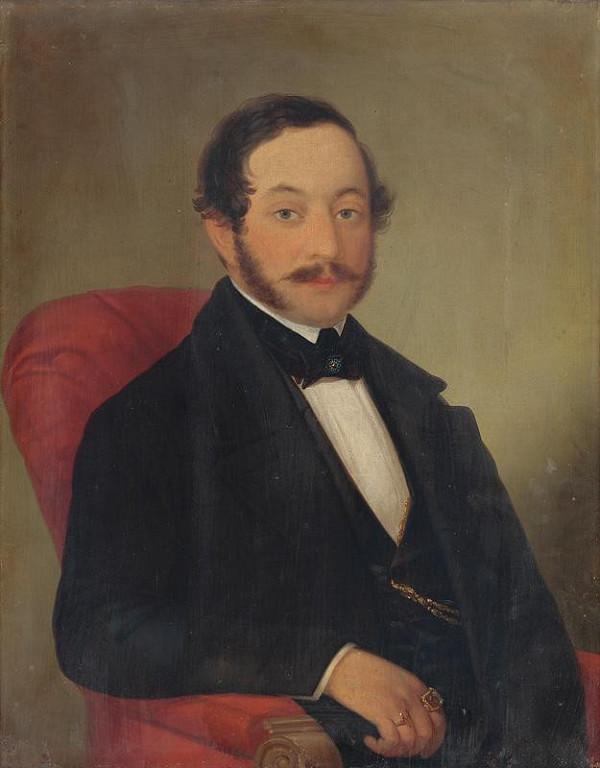 Slovenský maliar z 19. storočia - Portrét pána