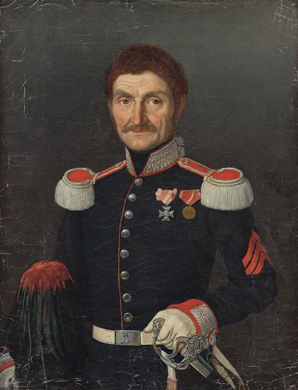Slovenský maliar z 2. polovice 19. storočia - Podobizeň muža v uniforme