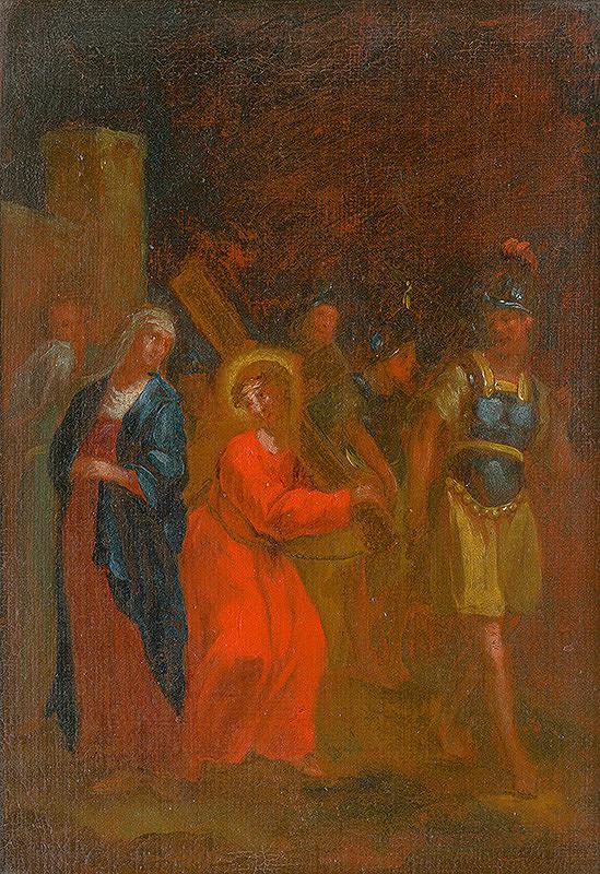 Štefan Schaller, Slovenský maliar z 3. tretiny 18. storočia - Ježiš sa stretá so svojou matkou. Štúdia ku Krížovej ceste IV.
