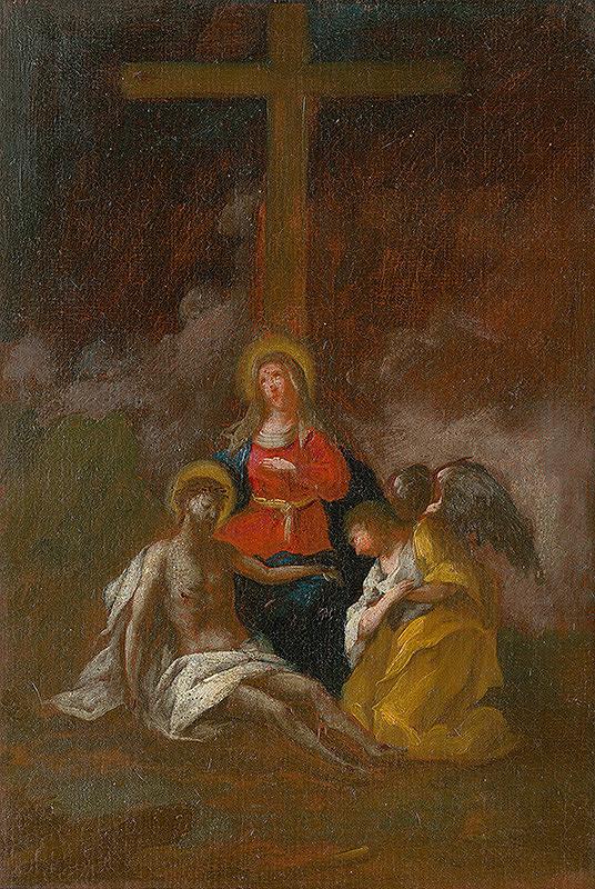 Štefan Schaller, Slovenský maliar z 3. tretiny 18. storočia - Ježiša skladajú z kríža. Štúdia ku Krížovej ceste XIII.