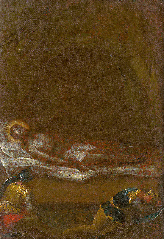 Štefan Schaller, Slovenský maliar z 3. tretiny 18. storočia - Ježiša pochovávajú. Štúdia ku Krížovej ceste XIV.
