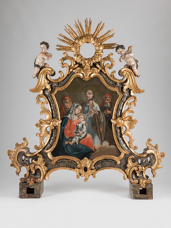Slovenský maliar a rezbár z polovice 18. storočia, Neznámy autor – Svätá Rodina