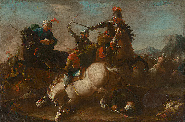 Stredoeurópsky maliar z 18. storočia, Neznámy maliar, August Querfurt – Bojová scéna