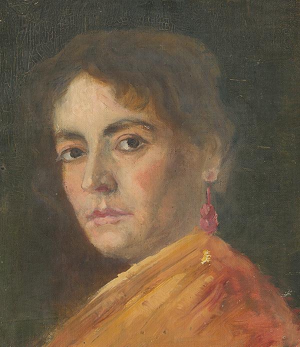 Aurel Ballo - Štúdia ženskej hlavy s záušnicou