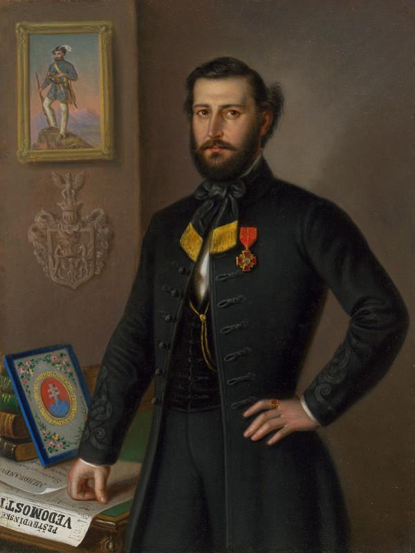 Peter Michal Bohúň – Štúdia k podobizni Jána Francisciho ako župana Liptovskej stolice