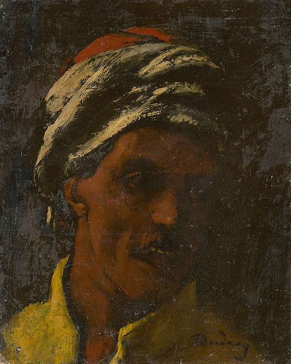 Július Rudnay - Štúdia hlavy orientálca