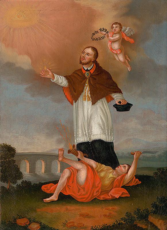 Slovenský maliar z konca 18. storočia, Neznámy maliar – Svätý Ján Nepomucký glorifikovaný anjelom