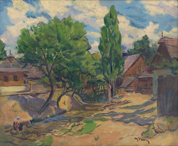 Gustáv Mallý - Krajina s domami