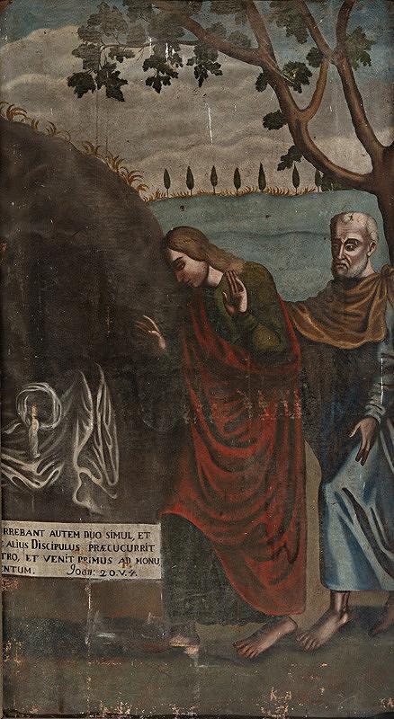 Slovenský maliar zo začiatku 18. storočia, Neznámy maliar – Svätý Ján a svätý Peter pri Kristovom hrobe