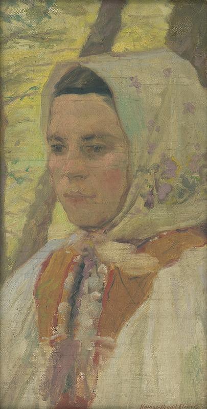 Elemír Halász-Hradil – Hlava sedliackeho dievčaťa