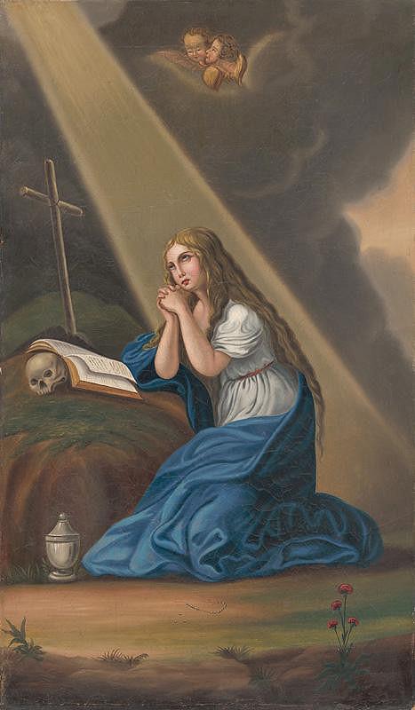 Slovenský maliar zo začiatku 19. storočia - Kajúca sa Mária Magdaléna
