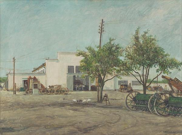 Alojz Klimo - Traktorová stanica vo Štvrtku na Ostrove