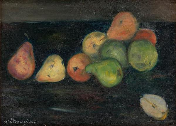 Jozef Šturdík - Zátišie s jablkami