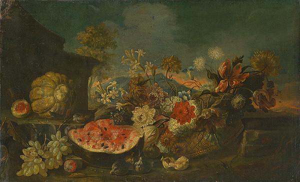 Taliansky maliar z 1. polovice 18. storočia - Zátišie s kvetinami