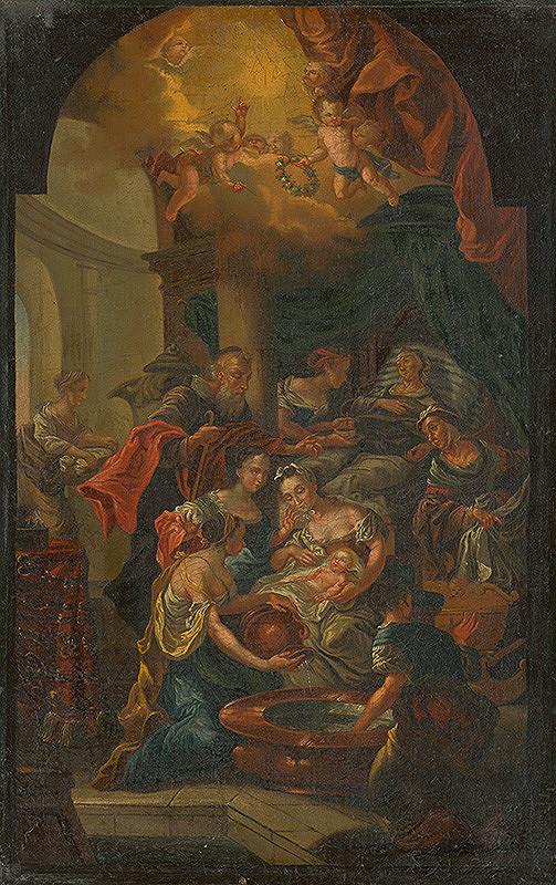 Nemecký maliar z 3. tretiny 18. storočia - Narodenie sv. Jána