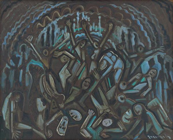 Anton Jasusch – Figurálna kompozícia v modrom