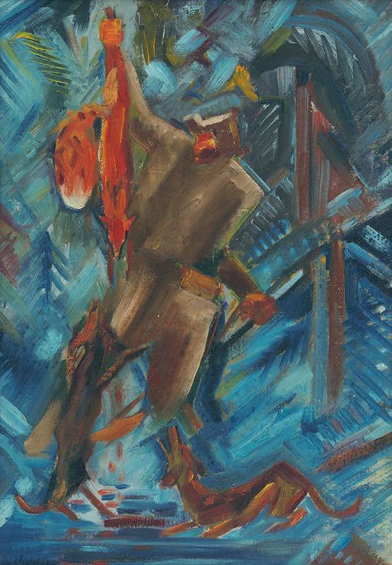 Arnold Peter Weisz-Kubínčan - Poľovník s líškou v ruke
