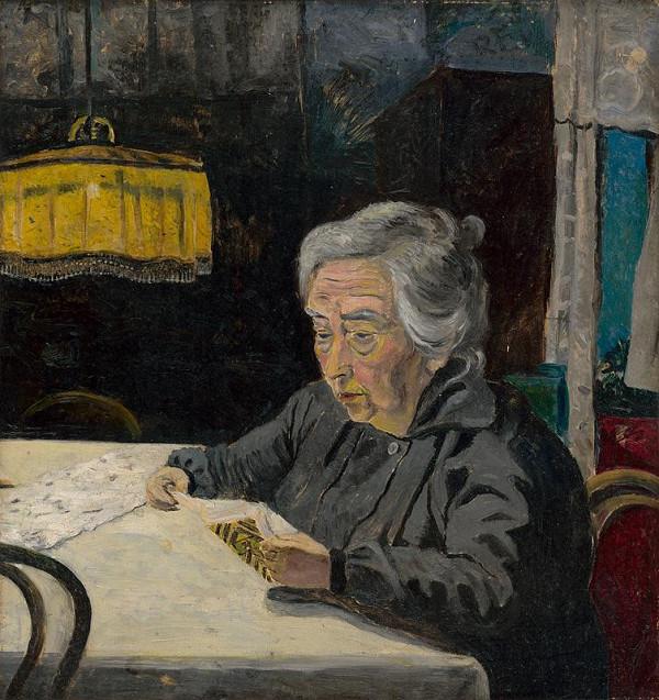 Arnold Peter Weisz-Kubínčan – Čítajúca starena