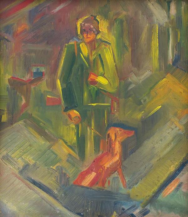 Arnold Peter Weisz-Kubínčan – Stojaci poľovník so psom