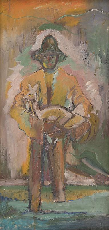 Arnold Peter Weisz-Kubínčan - Muž nesúci srnku