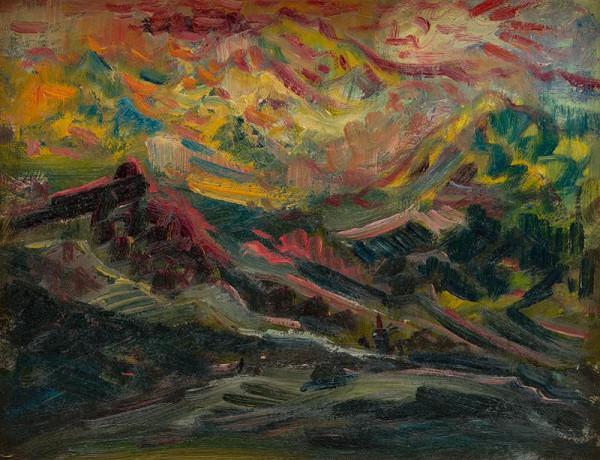 Arnold Peter Weisz-Kubínčan – Západ slnka na horách