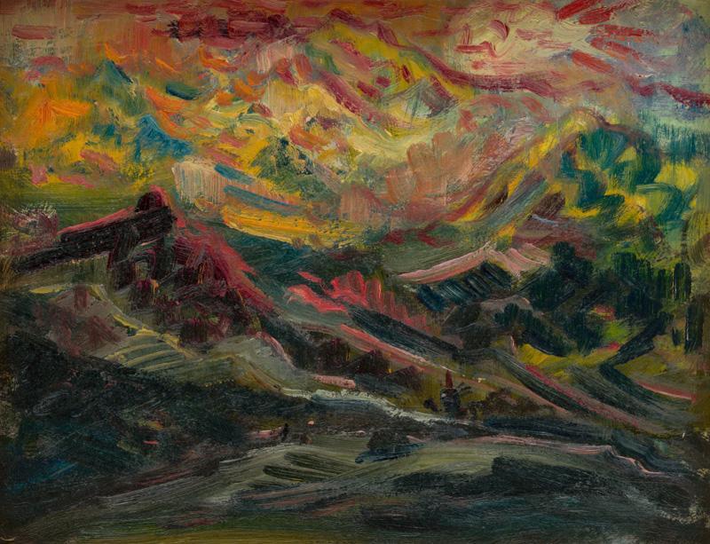Arnold Peter Weisz-Kubínčan – Západ slnka na horách, 1940 – 1944, Slovenská národná galéria, voľné dielo