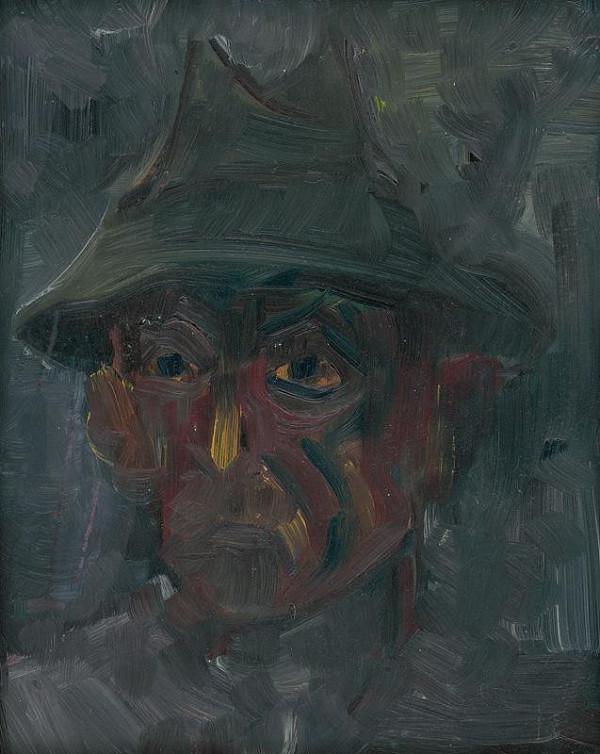 Arnold Peter Weisz-Kubínčan – Hlava muža v klobúku