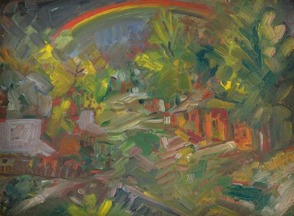 Arnold Peter Weisz-Kubínčan – Dúha nad dedinou