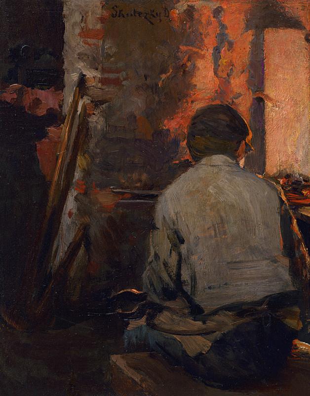 Dominik Skutecký – Pri vyhni, okolo 1905, Slovenská národná galéria