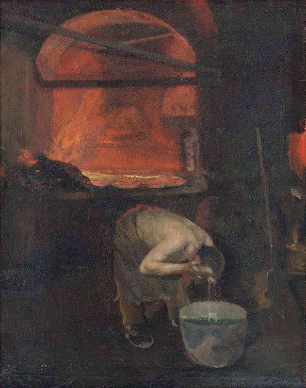 Dominik Skutecký – Po práci, 1920, Slovenská národná galéria