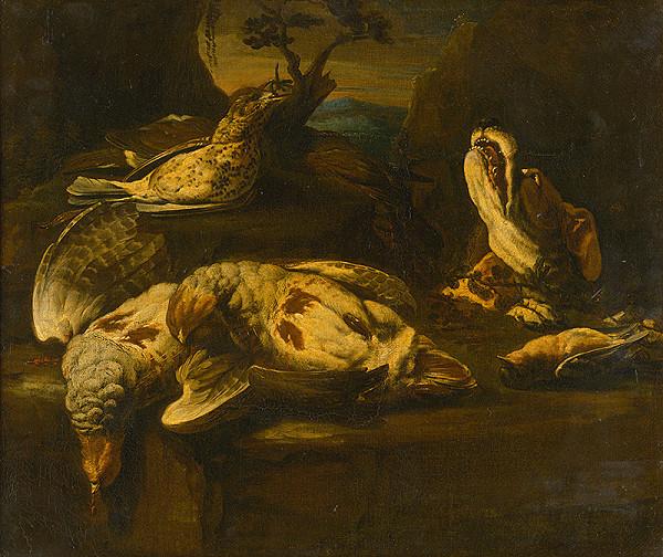 Nemecký maliar z 1. polovice 18. storočia – Poľovnícke zátišie